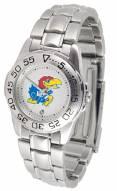 Kansas Jayhawks Sport Steel Women's Watch