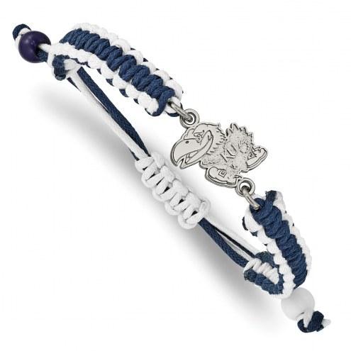 Kansas Jayhawks Stainless Steel Adjustable Cord Bracelet