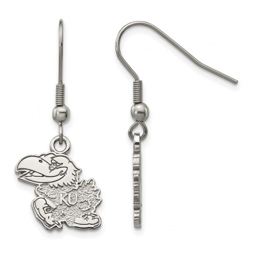 Kansas Jayhawks Stainless Steel Dangle Earrings