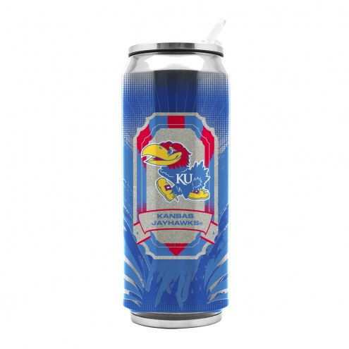 Kansas Jayhawks Stainless Steel Thermo Can