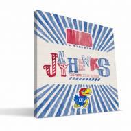 Kansas Jayhawks State Canvas Print