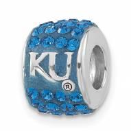 Kansas Jayhawks Sterling Silver Charm Bead