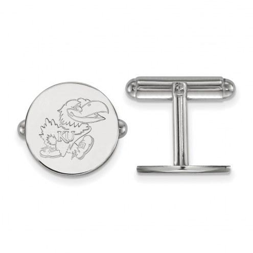 Kansas Jayhawks Sterling Silver Cuff Links