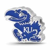 Kansas Jayhawks Sterling Silver Enameled Bead