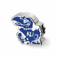 Kansas Jayhawks Sterling Silver Enameled Bead