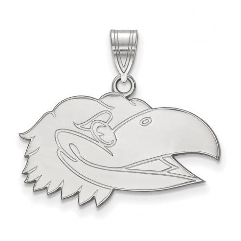 Kansas Jayhawks Sterling Silver Medium Pendant