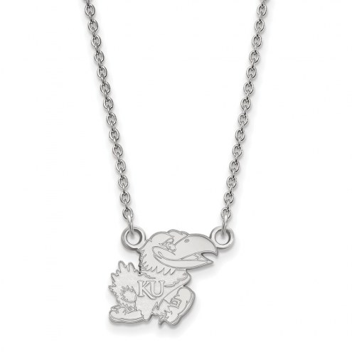 Kansas Jayhawks Sterling Silver Small Pendant Necklace