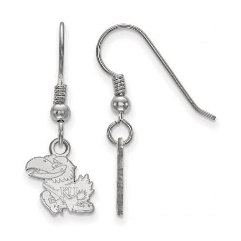 Kansas Jayhawks Sterling Silver Extra Small Dangle Earrings