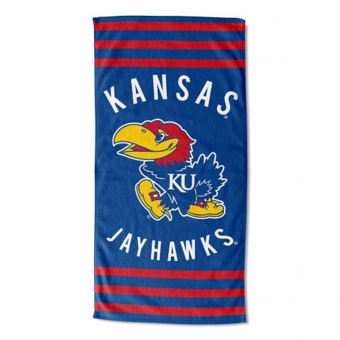 Kansas Jayhawks Stripes Beach Towel