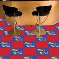Kansas Jayhawks Team Carpet Tiles