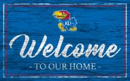 Kansas Jayhawks Team Color Welcome Sign
