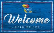 Kansas Jayhawks Team Color Welcome Sign