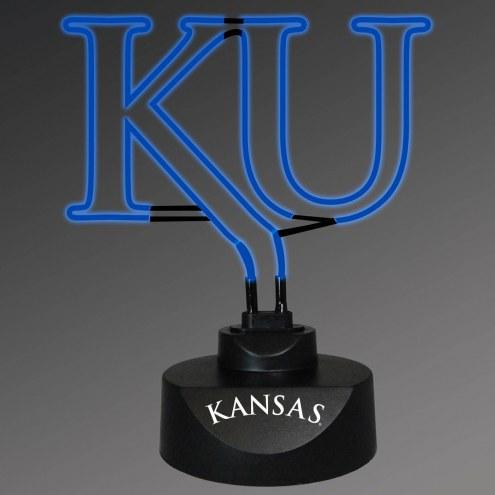 Kansas Jayhawks Team Logo Neon Lamp