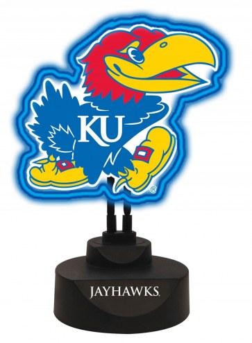 Kansas Jayhawks Team Logo Neon Light