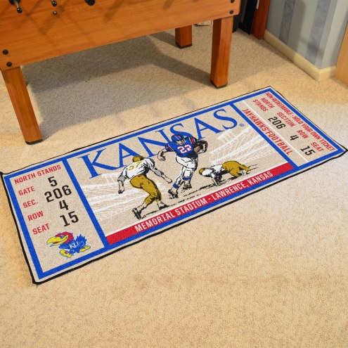 Kansas Jayhawks Ticket Runner Rug