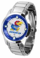 Kansas Jayhawks Titan Steel Men's Watch