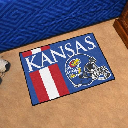 Kansas Jayhawks Uniform Inspired Starter Rug