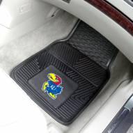 Kansas Jayhawks Vinyl 2-Piece Car Floor Mats