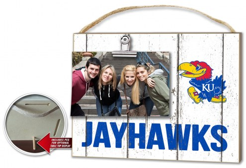 Kansas Jayhawks Weathered Logo Photo Frame