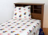 Kansas Jayhawks White Bed Sheets