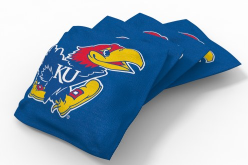 Kansas Jayhawks Cornhole Bags - Set of 4