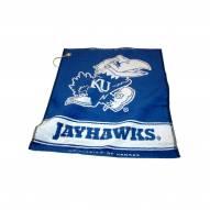 Kansas Jayhawks Woven Golf Towel