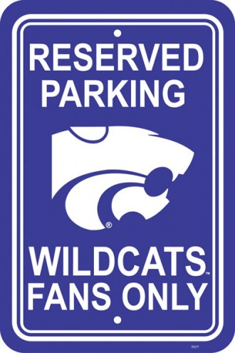 Kansas State Wildcats  College Parking Sign