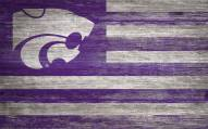 """Kansas State Wildcats 11"""" x 19"""" Distressed Flag Sign"""