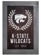 "Kansas State Wildcats 11"" x 19"" Laurel Wreath Framed Sign"