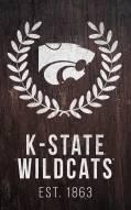"Kansas State Wildcats 11"" x 19"" Laurel Wreath Sign"