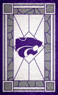 """Kansas State Wildcats 11"""" x 19"""" Stained Glass Sign"""