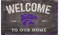 """Kansas State Wildcats 11"""" x 19"""" Welcome to Our Home Sign"""