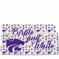 """Kansas State Wildcats 12"""" Floral State Sign"""