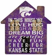 """Kansas State Wildcats 12"""" House Sign"""