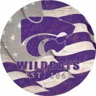 "Kansas State Wildcats 12"" Team Color Flag Circle Sign"