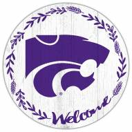 """Kansas State Wildcats 12"""" Welcome Circle Sign"""