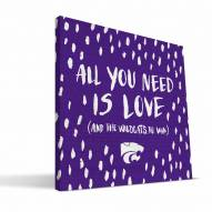 """Kansas State Wildcats 12"""" x 12"""" All You Need Canvas Print"""