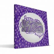 "Kansas State Wildcats 12"" x 12"" Born a Fan Canvas Print"