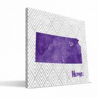 "Kansas State Wildcats 12"" x 12"" Home Canvas Print"