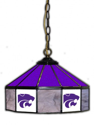 "Kansas State Wildcats 14"" Glass Pub Lamp"