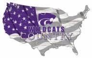 "Kansas State Wildcats 15"" USA Flag Cutout Sign"