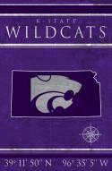 """Kansas State Wildcats 17"""" x 26"""" Coordinates Sign"""