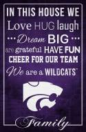 """Kansas State Wildcats 17"""" x 26"""" In This House Sign"""