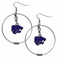 """Kansas State Wildcats 2"""" Hoop Earrings"""