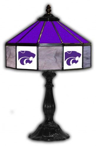 """Kansas State Wildcats 21"""" Glass Table Lamp"""