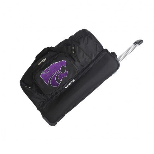 "Kansas State Wildcats 27"" Drop Bottom Wheeled Duffle Bag"