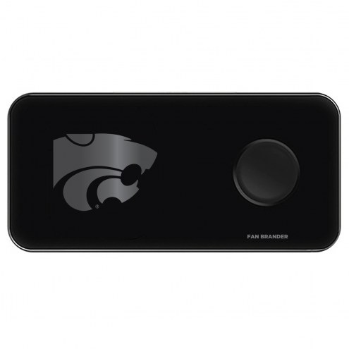 Kansas State Wildcats 3 in 1 Glass Wireless Charge Pad