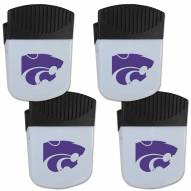 Kansas State Wildcats 4 Pack Chip Clip Magnet with Bottle Opener