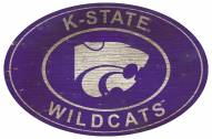 """Kansas State Wildcats 46"""" Heritage Logo Oval Sign"""