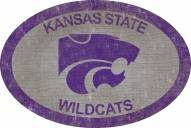 """Kansas State Wildcats 46"""" Team Color Oval Sign"""